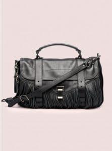 Proenza Schouler Black PS1 Medium Leather Fringe Bag - Pre-Fall 2014