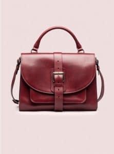 Proenza Schouler Burgundy Buckle Bag Top Handle Bag - Pre-Fall 2014