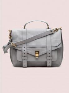 Proenza Schouler Concrete Grey PS1 Large Leather Bag - Pre-Fall 2014