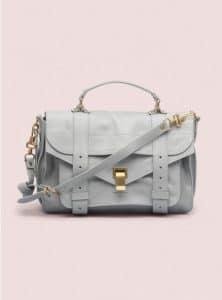 Proenza Schouler Concrete Grey PS1 Medium Leather Bag - Pre-Fall 2014