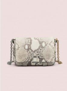 Proenza Schouler Cream/Black Small Courier Python Bag - Pre-Fall 2014