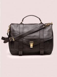 Proenza Schouler Dark Chocolate PS1 Large Leather Bag - Pre-Fall 2014