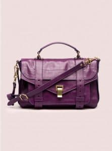 Proenza Schouler Grape Jam PS1 Medium Leather Bag - Pre-Fall 2014