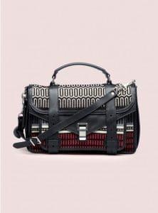 Proenza Schouler Red/Black PS1 Medium Baja Bag - Pre-Fall 2014