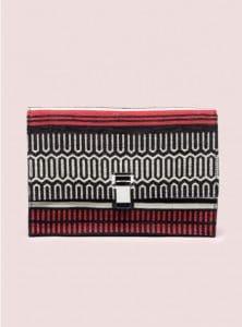 Proenza Schouler Red/Black Small Lunch Bag Baja Jacquard Bag - Pre-Fall 2014