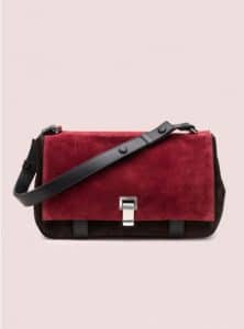 Proenza Schouler Red/Brown Courier Colorblocked Bag - Pre-Fall 2014