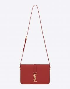 Saint Laurent Red Monogram Universite Flap Bag - Prefall 2014
