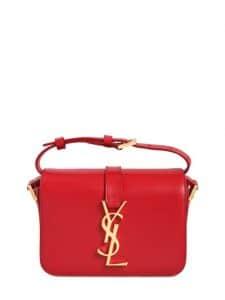 Saint Laurent Red Universite YSL Logo Bag - Fall 2014