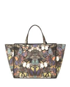 Valentino Butterfly Camouflage Tote Bag - Pre-Fall 2014