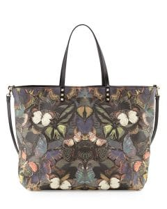 Valentino Patchwork Butterfly Easy Tote Bag - Pre-Fall 2014