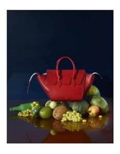 Celine Red Tie Tote Bag - Fall 2014 Ad Campaign