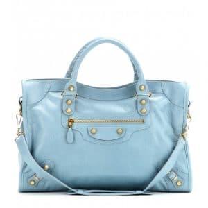Balenciaga Bleu Opal/Sky Blue Giant 12 City Bag