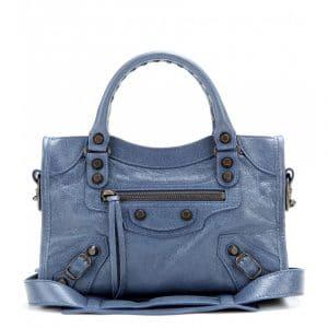 Balenciaga Blue Persian/Denim Blue Classic Mini City Bag