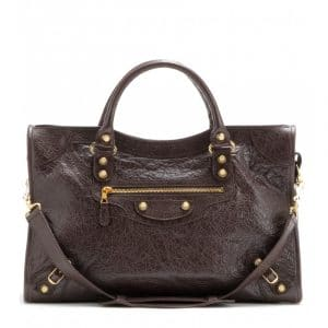 Balenciaga Charbon/Dark Brown Giant 12 City Bag