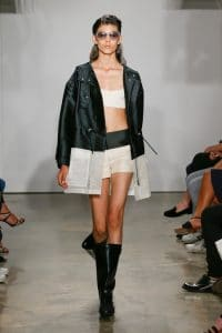 Balenciaga White:Black Oversized Coat - Resort 2015