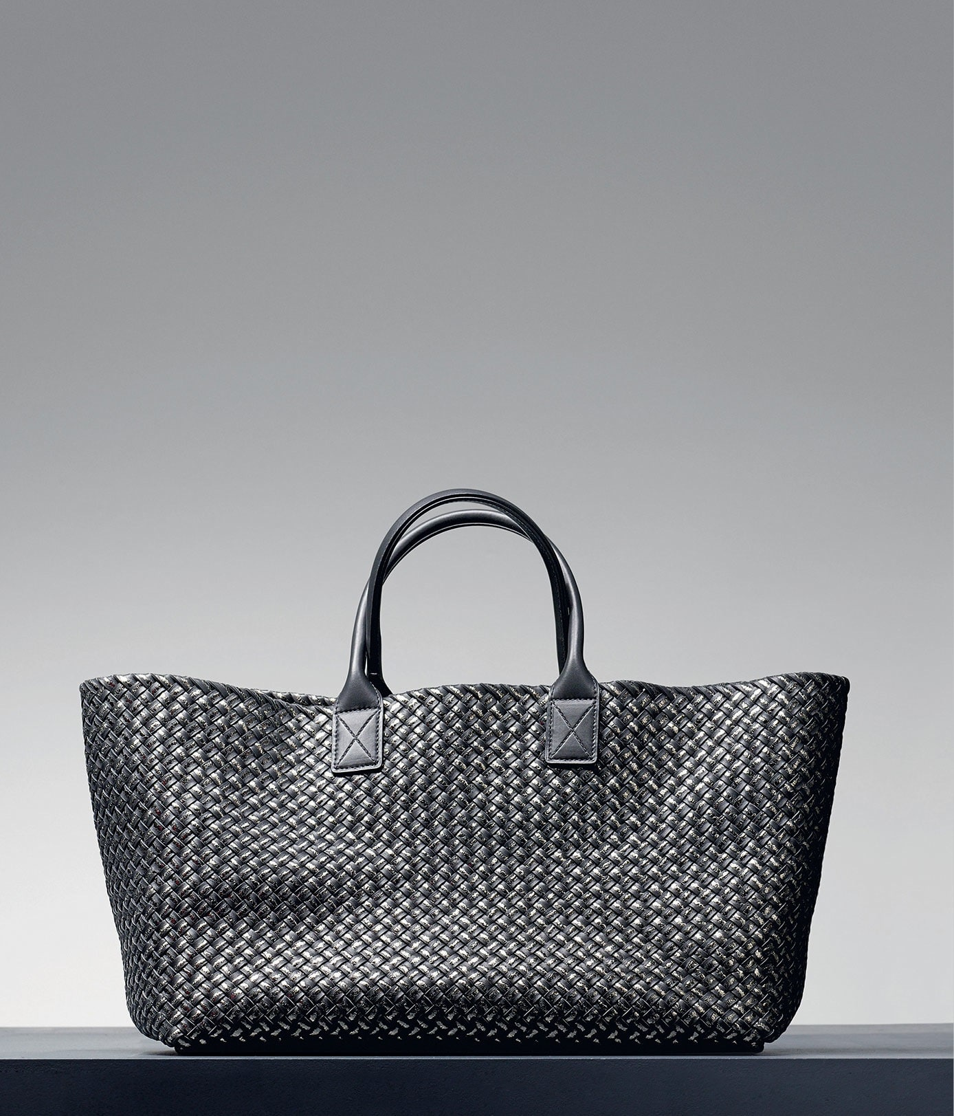 Bottega Veneta Ardoise Intreccio Placcato Cabat Bag - Pre-Fall 2014 63400442c727a