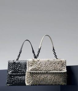 Bottega Veneta Ardoise/Mist Intreccio Tobu Olimpia Bags - Pre-Fall 2014