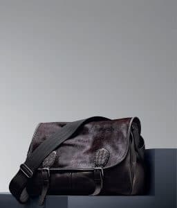 Bottega Veneta Espresso Pony Waxed Leather Gardena Bag - Pre-Fall 2014