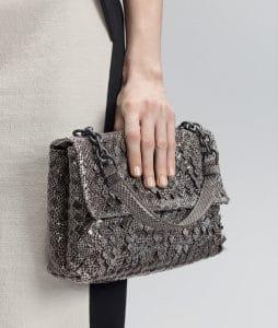 Bottega Veneta New Light Grey Intreccio Tobu Ayers Olimpia Bag - Pre-Fall 2014
