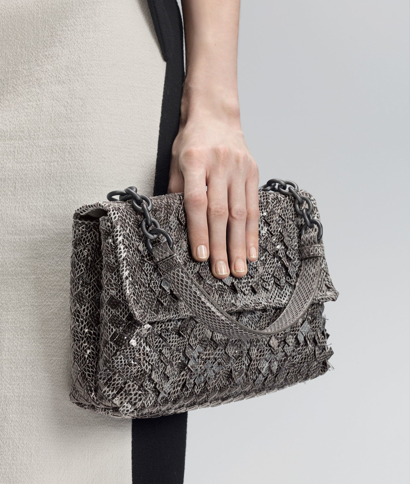 Bottega Veneta New Light Grey Intreccio Tobu Ayers Olimpia Bag - Pre-Fall  2014 db07849b66eae
