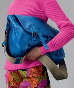 Bottega Veneta Signal Blue Cervo Metal Gardena Bag - Pre-Fall 2014
