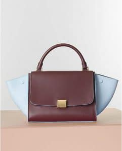 Celine Bicolor Sky Blue and Tan Trapeze Tote Bag - Winter 2014