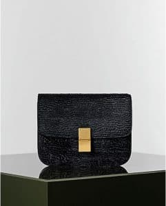 Celine Black Stamped Pony Box Flap Bag - Winter 2014