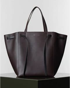 Celine Burgundy Cabas Phantom Tote Bag - Winter 2014