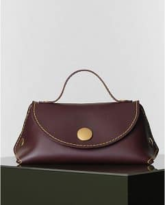 Celine Burgundy Orb Single Tote Bag - Winter 2014