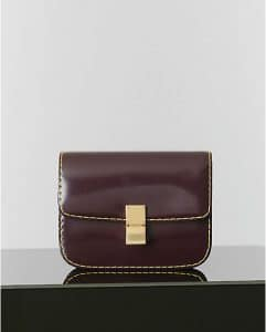 Celine Burgundy Spazzolato Box Bag - Winter 2014