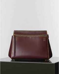 Celine Burgundy Spazzolato Edge Bag - Winter 2014