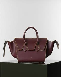 Celine Burgundy Spazzolato Tie Tote Bag - Winter 2014