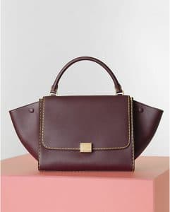 Celine Burgundy Spazzolato Trapeze Bag - Winter 2014