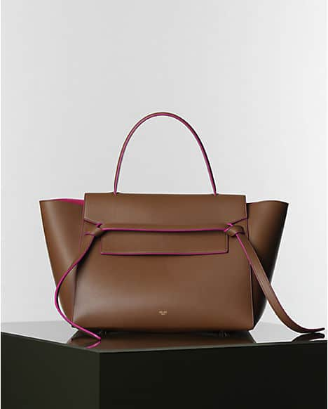 8dc2c636f4 Celine Camel with Fuschia Lining Belt Tote Bag - Winter 2014. Celine.com
