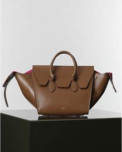 Celine Camel with Fuschia Tie Tote Bag - Winter 2014