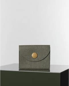 Celine Grey Orb Clutch Felt Bag - Winter 2014