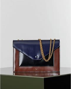Celine Multicolor Burgundy Pocket Chain Elaphe Bag - Winter 2014