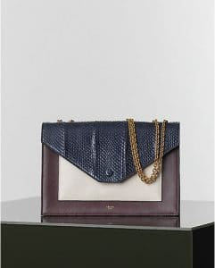 Celine Python Multicolor Elaphe Pocket Chain Bag - Winter 2014