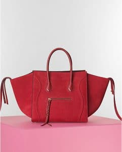 Celine Red Nubuck Suede Phantom Bag - Winter 2014