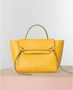 Celine Sunflower Yellow Belt Tote Bag - Winter 2014