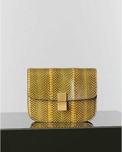 Celine Yellow Cobra Box Flap Bag - Winter 2014