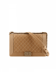 Chanel Beige Large Boy Flap Bag - Prefall 2014