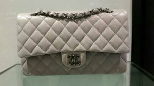 Chanel Beige Timeless Classic Flap Bag - Prefall 2014