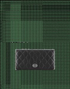 Chanel Black Embellished Metal Plate Wallet - Pre-Fall 2014