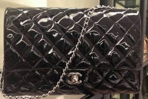 Chanel Black Patent Clutch Flap Bag - Prefall 2014