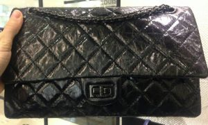 Chanel Black on Black Aged Reissue 226 Flap Bag - Prefall 2014