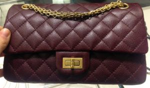 Chanel Burgundy Mini Reissue 224 Flap Bag - Prefall 2014