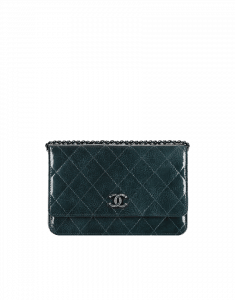 Chanel Dark Green Patent CC Wallet on Chain Bag - Pre-Fall 2014