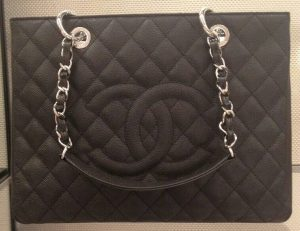 Chanel Dark Navy Blue GST Bag