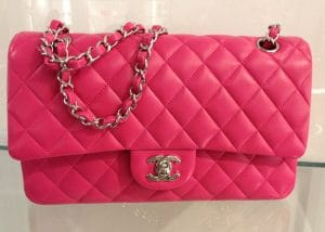 Chanel Fuchsia Classic Flap Medium Bag